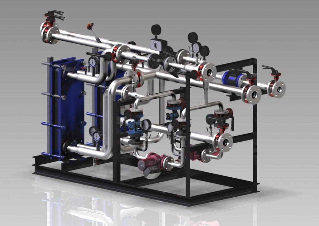 3D-модель индивидуального теплового пункта
