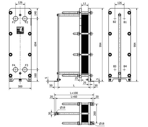 Схема теплообменника S14A
