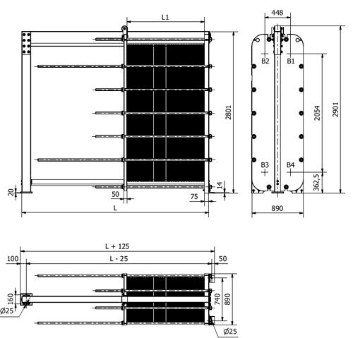 Схема теплообменника S155