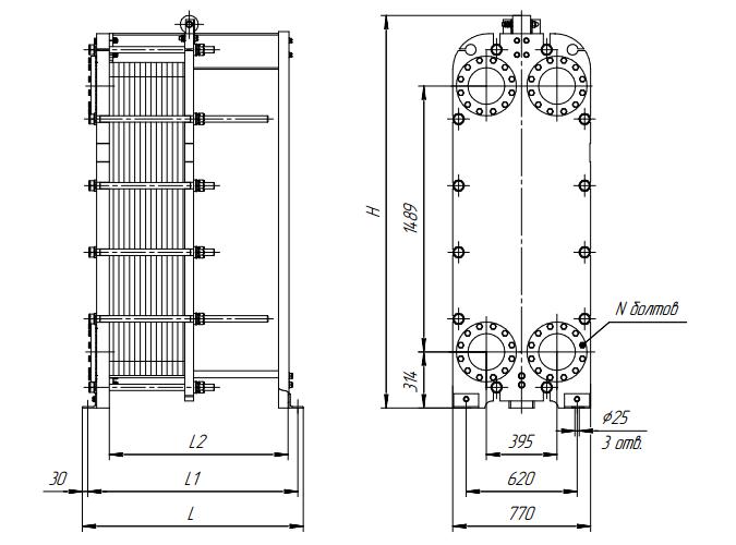 Схема теплообменника Ридан НН100