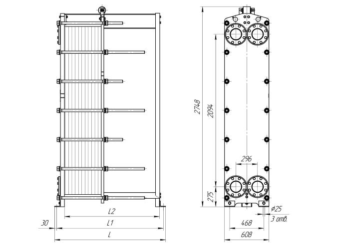 Схема теплообменника Ридан НН110