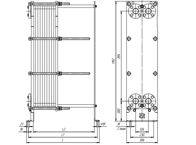 Схема теплообменника Ридан НН20