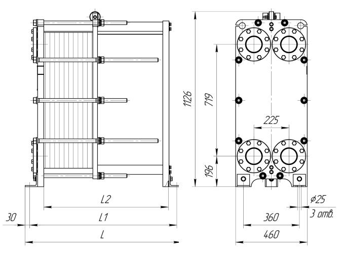 Схема теплообменника Ридан НН21