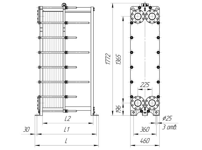 Схема теплообменника Ридан НН47