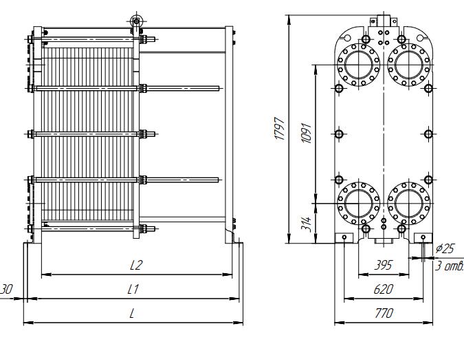 Схема теплообменника Ридан НН65