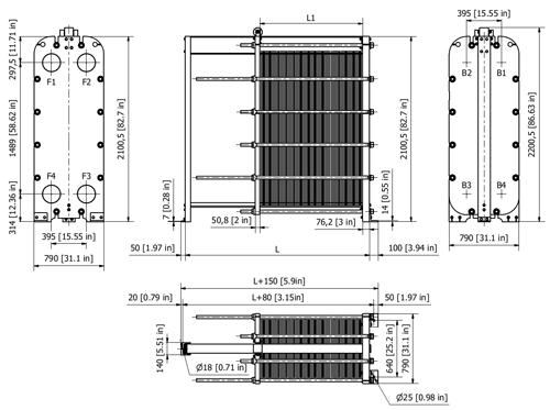 Схема теплообменника S100