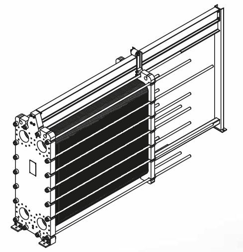 Чертеж теплообменника A8L