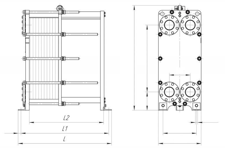 Теплообменник НН-21 - чертеж